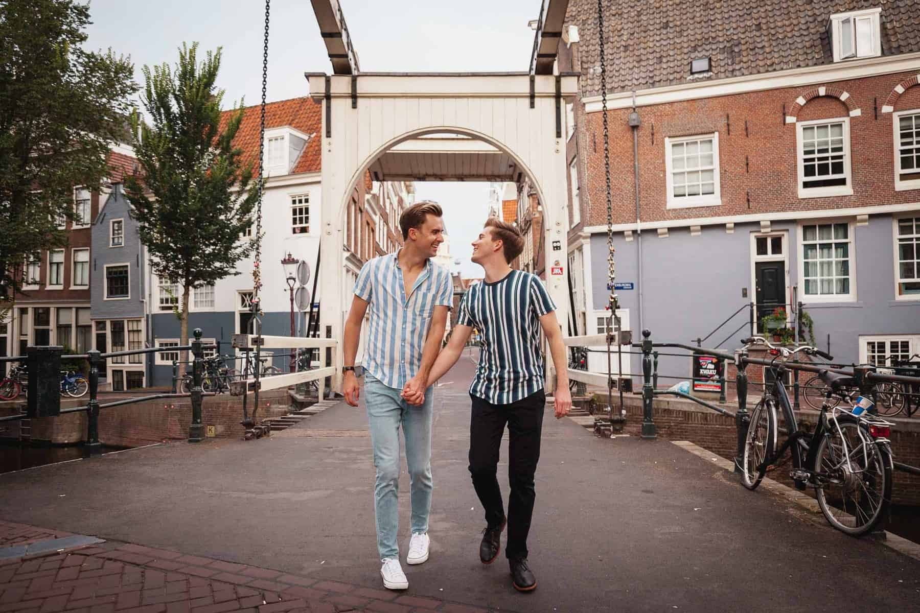 Gay Couple photoshoot Amsterdam LGBT photographer