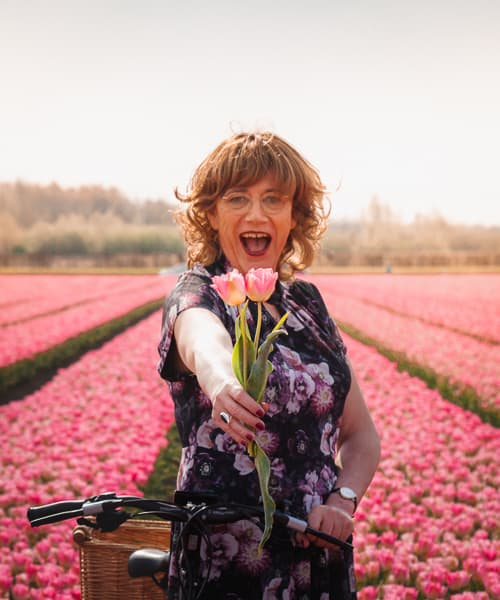 Tulip Fields Netherlands transgender woman photoshoot
